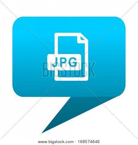 jpg file blue bubble icon