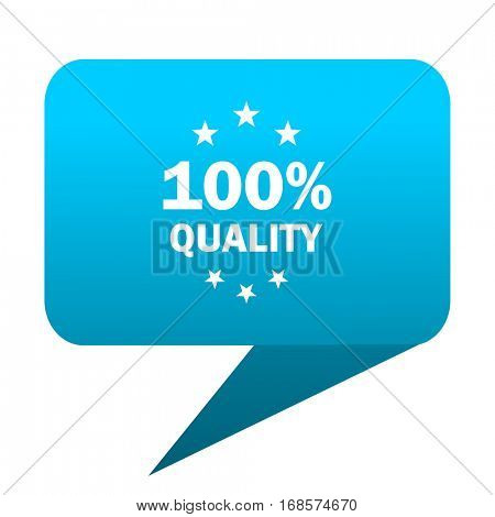 quality blue bubble icon