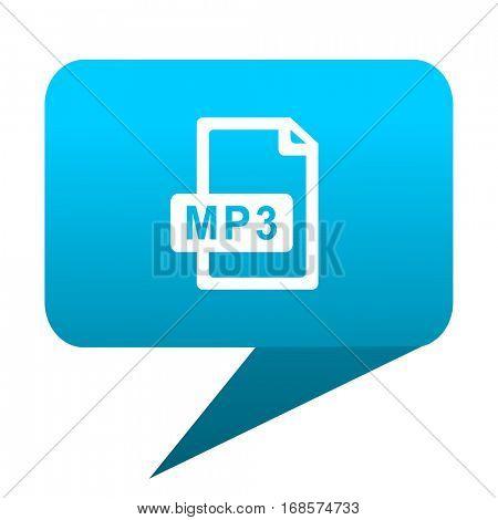 mp3 file blue bubble icon