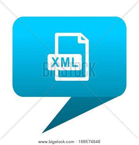 xml file blue bubble icon