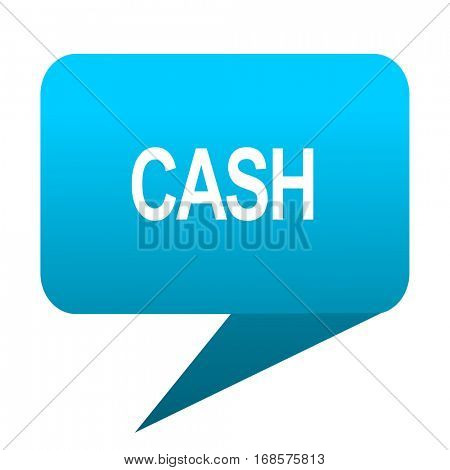 cash blue bubble icon