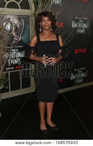 NEW YORK-JAN 11: Actress Alfre Woodad attends the world premiere of NETFLIX's Lemony Snicket's