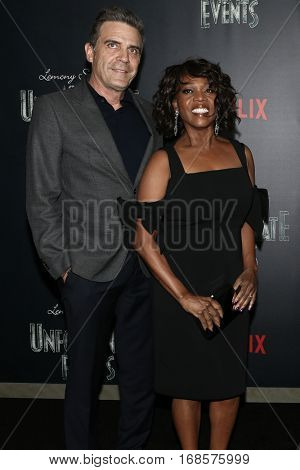 NEW YORK-JAN 11: Roderick Spencer (L) and Alfre Woodad attend the world premiere of NETFLIX's Lemony Snicket's
