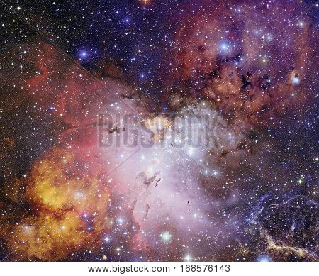 Bright Nebula In Deep Space.