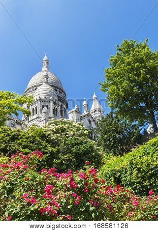 View on the Basilica of the Sacred Heart. Montmartre, Paris
