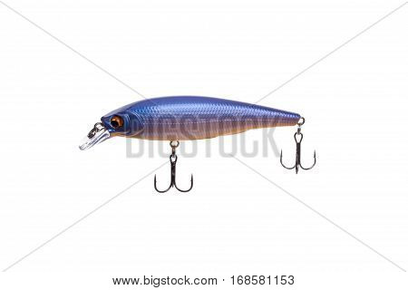 Hard bait for catching predatory fish equipped with triple hooks