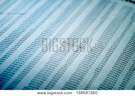Financial Data Concept with Numbers, Spreadsheet Bank Accounts Accounting, Financial Fraud Investigation, Audit and Analysis, Balance Sheet, Numbers Background, Stock Market Quotes, Matrix Numbers