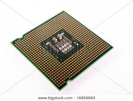 central processing unit isolated on white