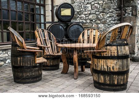 United Kingdom Scotland Glen Grant Speyside Single Malt Scotch Whisky Trails Distillery barrel production furniture