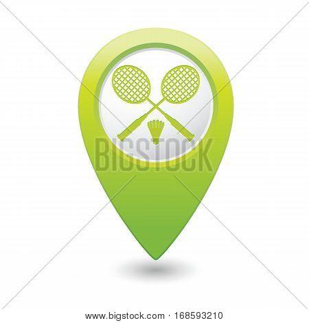 Badminton icon on the green map pointer