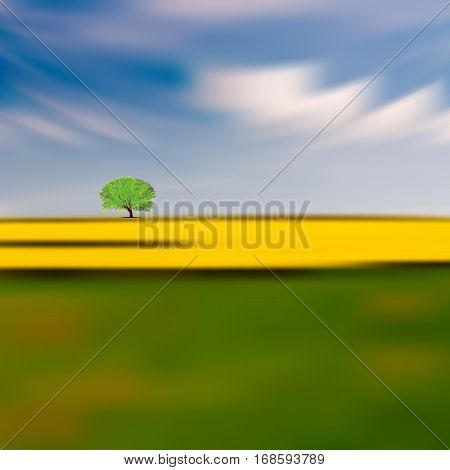 Abstract Nature Background With Tree