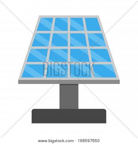 Solar panel vector. Electricity energy renewable solar alternative generator illustration