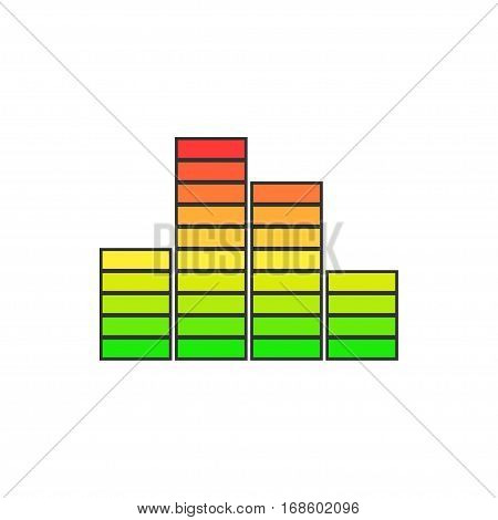Chart, Graph Growth Isolated on White Background, Illustration
