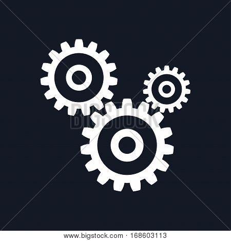 Gears Isolated on Black Background, Teamwork, Joint Effort ,Team Effort