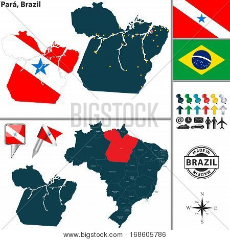 Map Of Para, Brazil