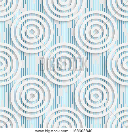 Seamless Circle Pattern. Abstract Tracery Background. Modern Stylish Wallpaper. 3d Delicate Design