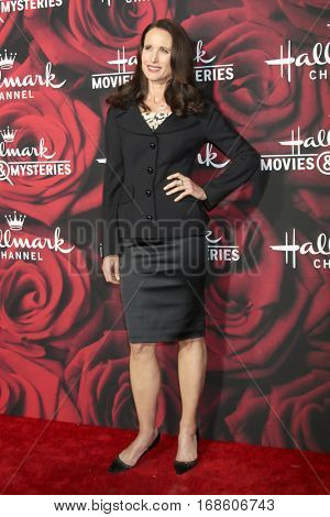 LOS ANGELES - JAN 14:  Andie MacDowell at the Hallmark TCA Winter 2017 Party at Rose Parade Tournament House  on January 14, 2017 in Pasadena, CA
