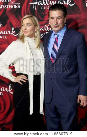LOS ANGELES - JAN 14:  Stefanie von Pfetten, Billy Baldwin at the Hallmark TCA Winter 2017 Party at Rose Parade Tournament House  on January 14, 2017 in Pasadena, CA