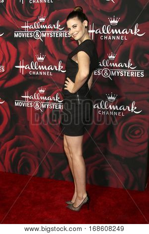 LOS ANGELES - JAN 14:  Meghan Ory at the Hallmark TCA Winter 2017 Party at Rose Parade Tournament House  on January 14, 2017 in Pasadena, CA