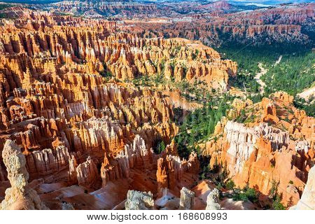 Sandstone mountains at Bryce Canyon National Park
