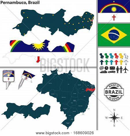 Map Of Pernambuco, Brazil