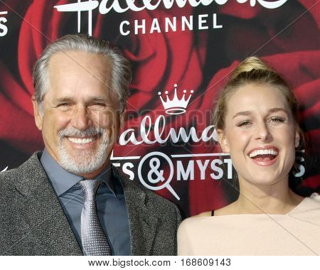 LOS ANGELES - JAN 14:  Gregory Harrison, daughter at the Hallmark TCA Winter 2017 Party at Rose Parade Tournament House  on January 14, 2017 in Pasadena, CA