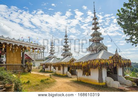 Su Tong Pe place of worship in Mae Hong Son province Thailand.