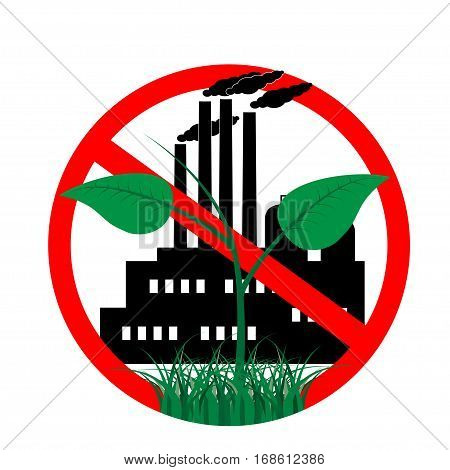 icon against the pollution of the environment. for pure nature, against globalization