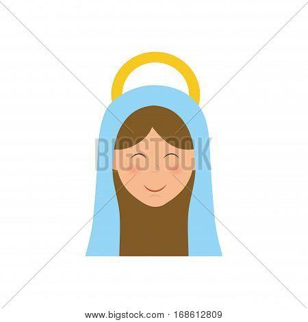 Holy virgin mary cartoon icon vector illustration graphic design