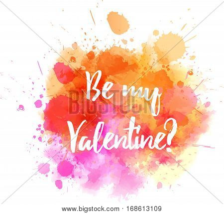Pink And Orange Valentine Splash