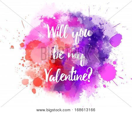 Pink And Purple Valentine Splash
