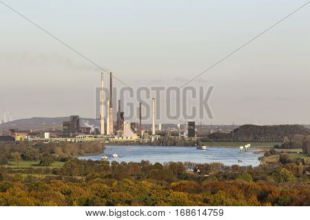Coking Plant And River