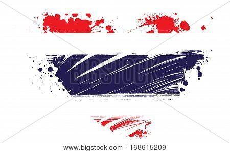 Grunge Thailand national flag in heart shape. Patriotism concept.