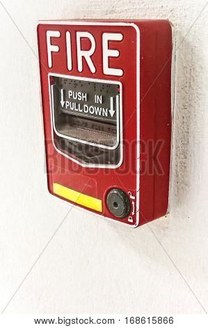 The fire alarm switch in fire alarm system.