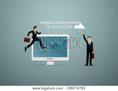 Business development Businessman Business success Business team Team work.