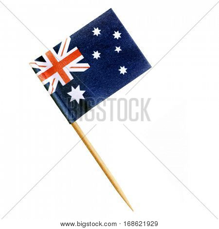 Australian flag toothpick isolated on white.  Clipping path included.