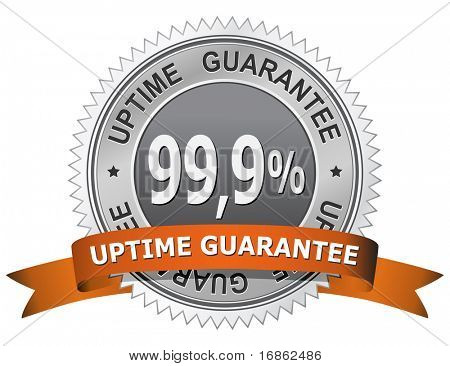 99,9 % Uptime Guarantee Sign. Web Hosting.