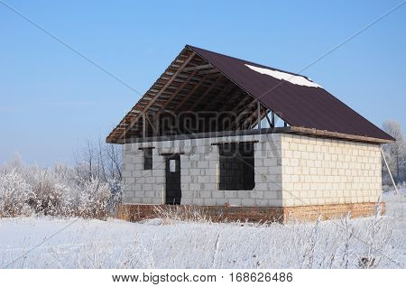 Building a house in the winter. Building a Home During Winter