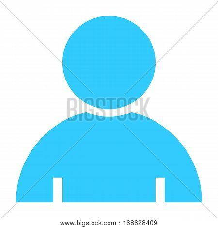 Flat user icon member sign avatar button. Quick and easy recolorable shape isolated from background. Vector illustration a graphic element for web internet design.