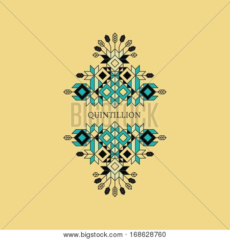 Decorative Element in Retro Style. Vector Calligraphic Template. Line Art Design for Invitations, Posters, Presentation. Vintage Frame.