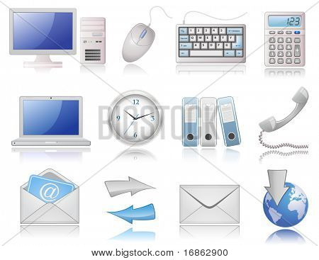 Universal Web Icon Set   Elegant Series. Highly detailed icons with a reflection.