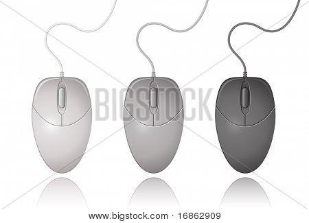 Satz von Computer-Maus. Vektor-Illustration.
