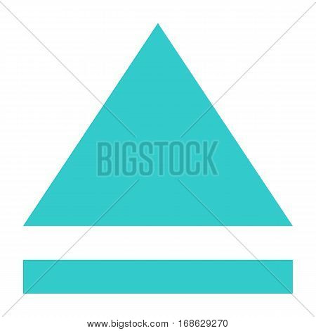 Multimedia audio video movie pictogram. Quick and easy recolorable shape isolated from background. Vector illustration a graphic element for web internet design.