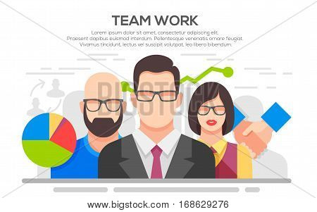 Teamwork. Business concept. Team work concept illustration. Business people teamwork, human resources, career opportunities, team skills, management