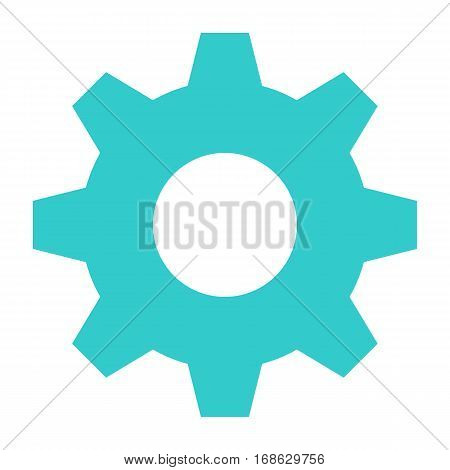 Flat cog icon gear sign cogwheel interface button. Multimedia audio video movie icons. Vector illustration a graphic element for web internet design