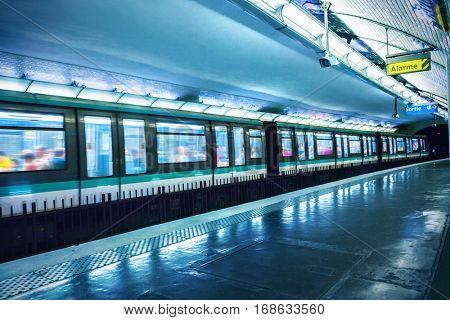 Metro station in Paris