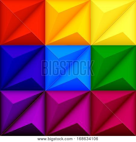 Abstract geometric seamless multicolored  background with triangle shapes