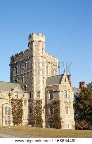 Big stone building in Princeton in USA