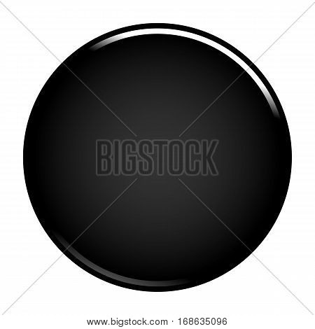 Black glossy button empty web internet icon circle empty shape. Vector illustration a graphic element for web internet design.