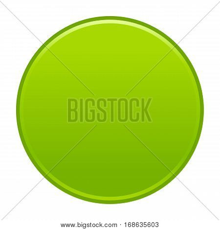 Green flat button blank web internet icon circle empty shape. Vector illustration a graphic element for web internet design